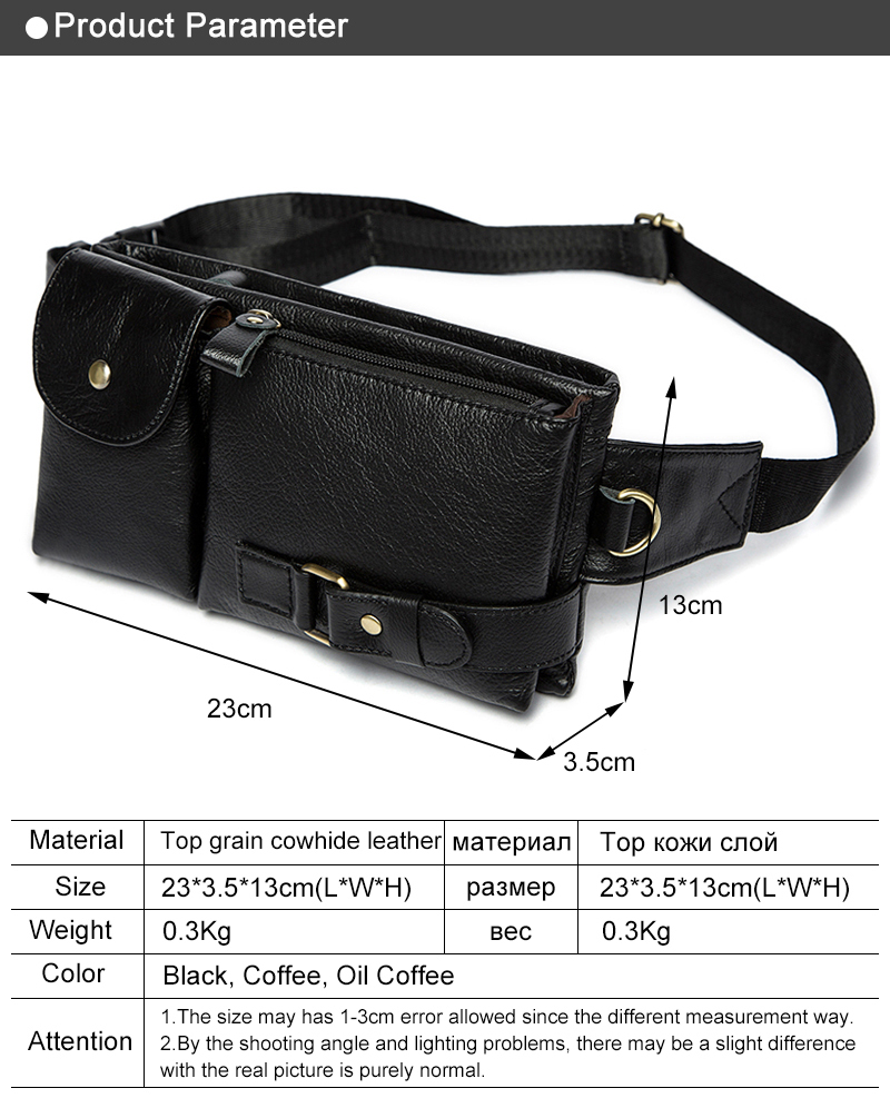 1550a362b56 Genuine Leather Waist Packs Fanny Pack Belt Bag Phone Pouch Bags Travel  Waist Pack Male Small Waist Bag Leather Pouch